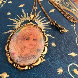 Barbie necklace only 1 made signed
